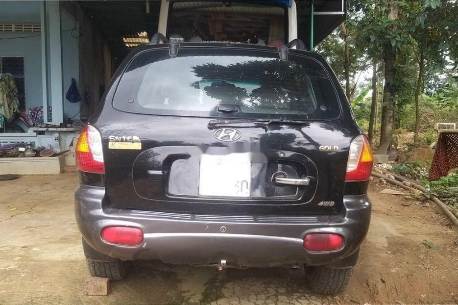 Bán ô tô Hyundai Santa Fe đời 2003, màu đen chính chủ (8)