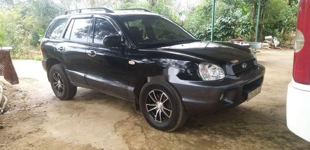 Bán ô tô Hyundai Santa Fe đời 2003, màu đen chính chủ (2)