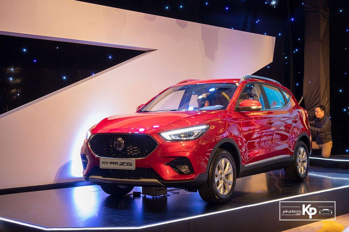 Ảnh Tổng quát xe MG ZS 2021 đỏ