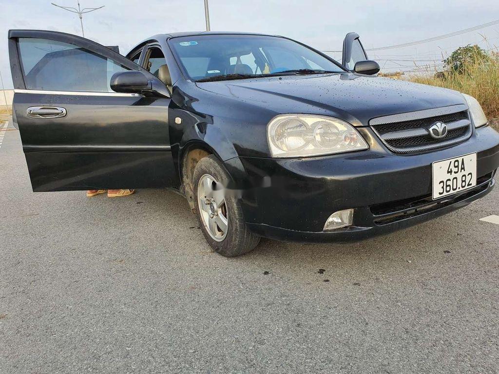 Cần bán lại xe Daewoo Lacetti sản xuất năm 2008, màu đen (2)