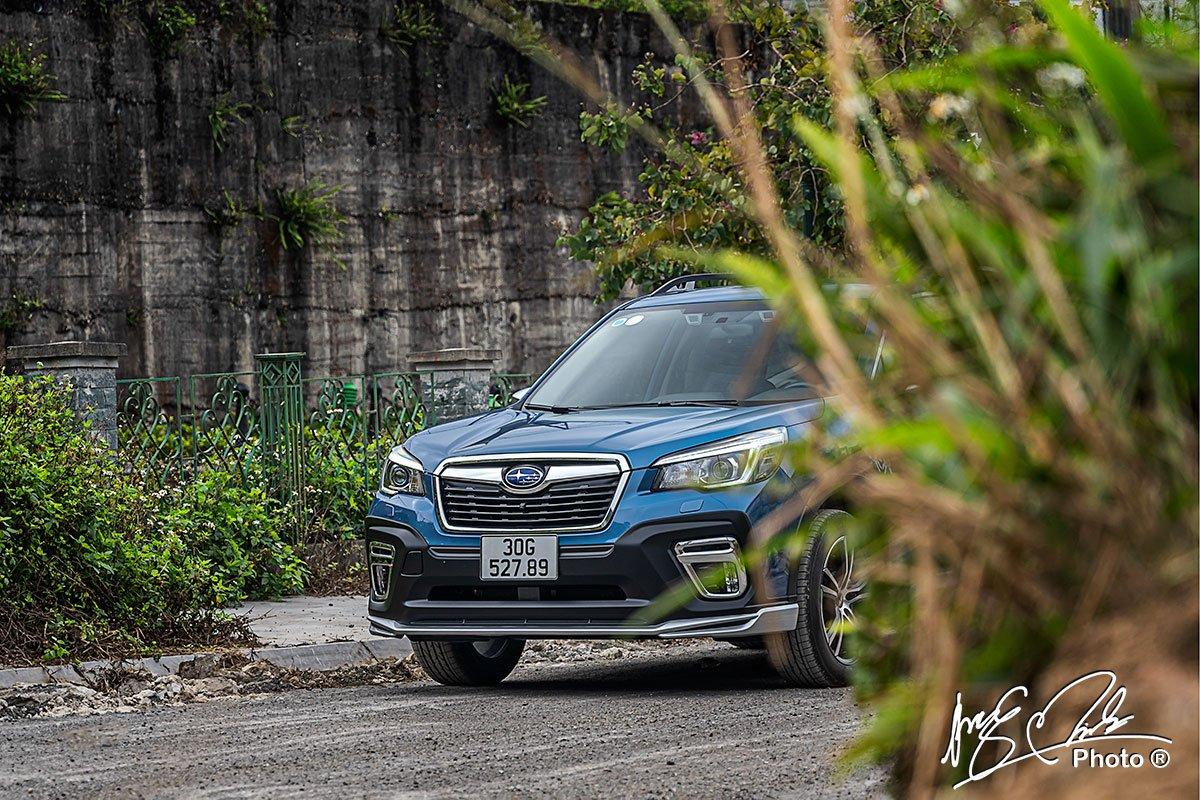 Lưới tản nhiệt của Subaru Forester 2021.