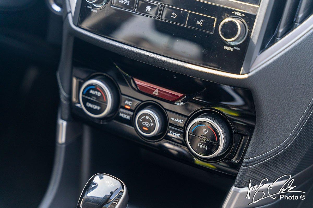 Điều hoà tự động 2 vùng độc lập trên Subaru Forester 2021.