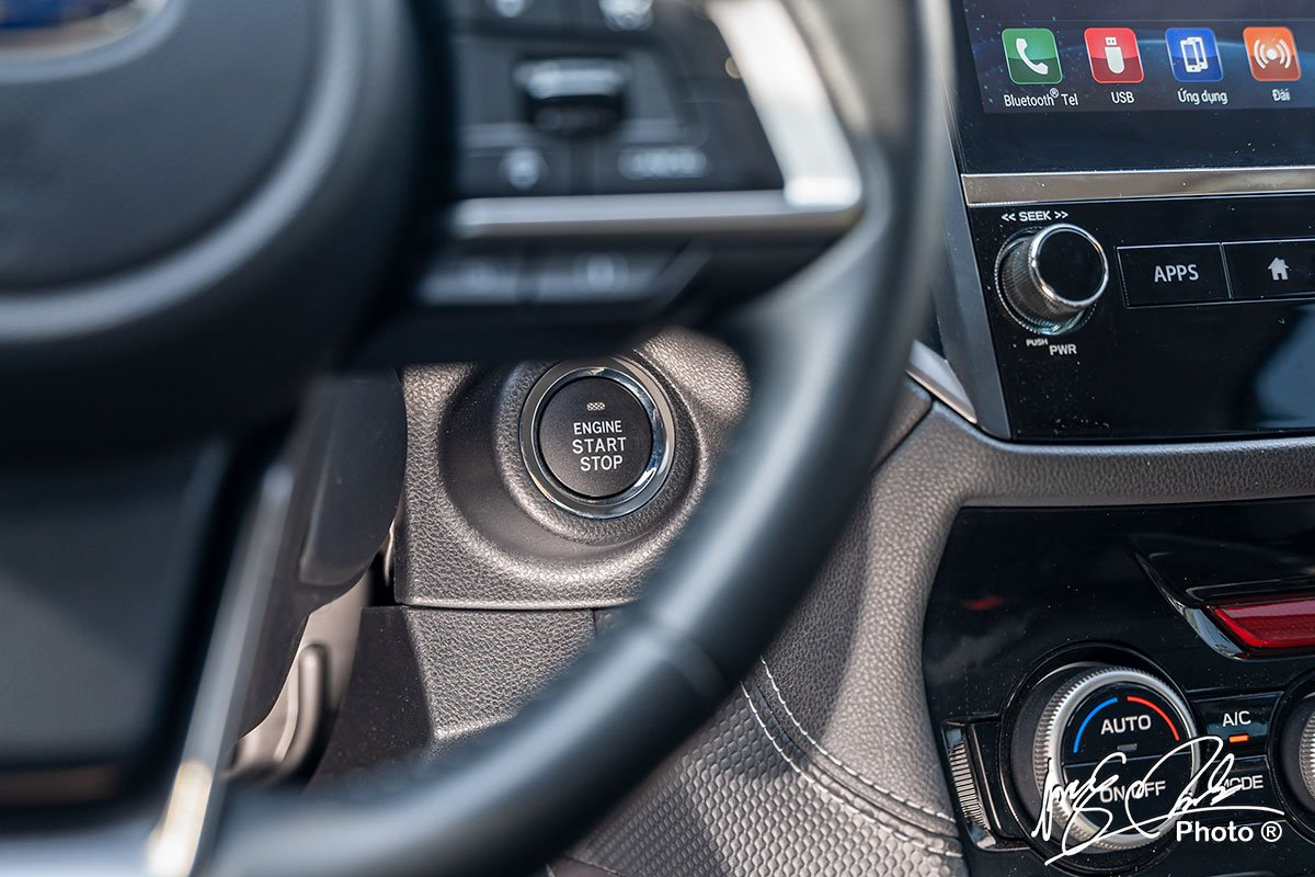 Nút bấm khởi động trên Subaru Forester 2021.