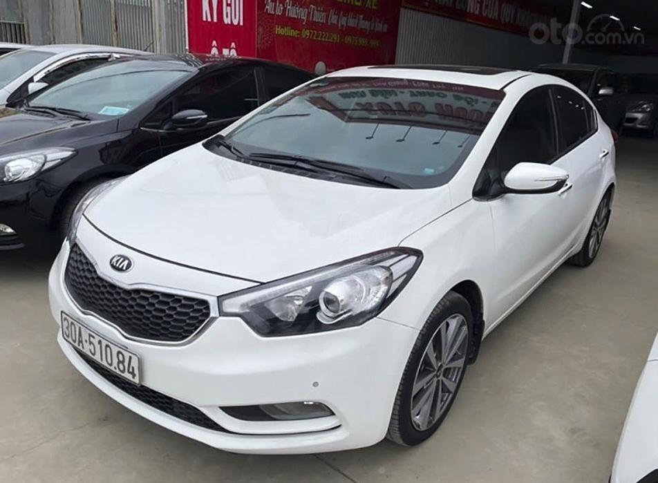 Bán Kia K3 năm sản xuất 2015, màu trắng chính chủ, giá 485tr (1)