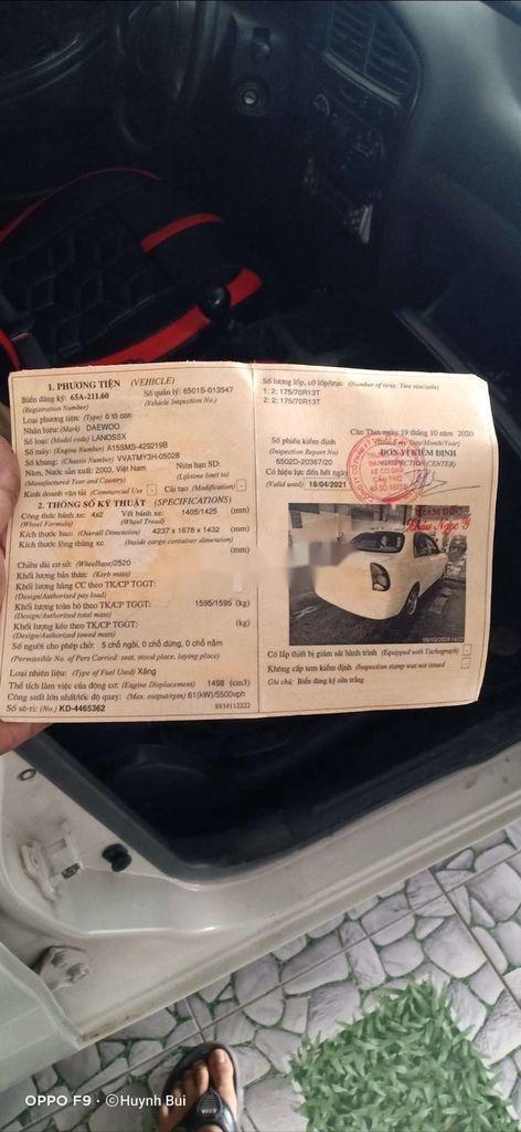 Cần bán xe Daewoo Lanos năm sản xuất 2003, màu trắng (7)