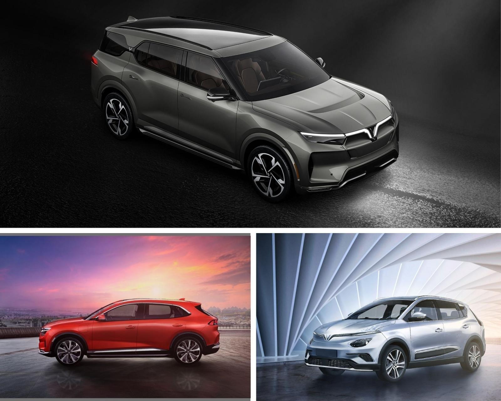 3 mẫu xe điện SUV của VinFast.