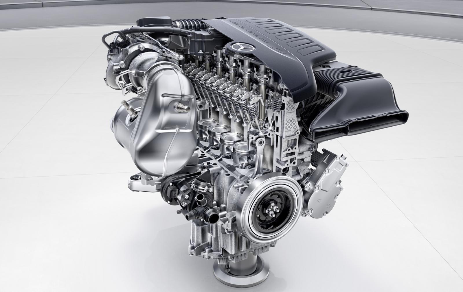 Kết cấu động cơ I6 của Mercedes.