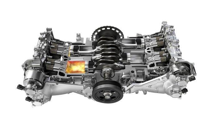 Động cơ Boxer của Subaru.