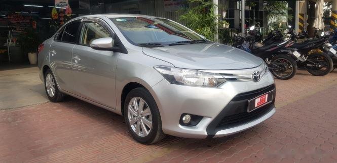 Cần bán xe Toyota Vios 1.5E MT đời 2016, màu bạc (2)
