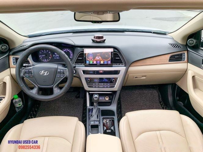 Xe Hyundai Sonata 2.0 đời 2015, màu trắng, giá tốt (5)