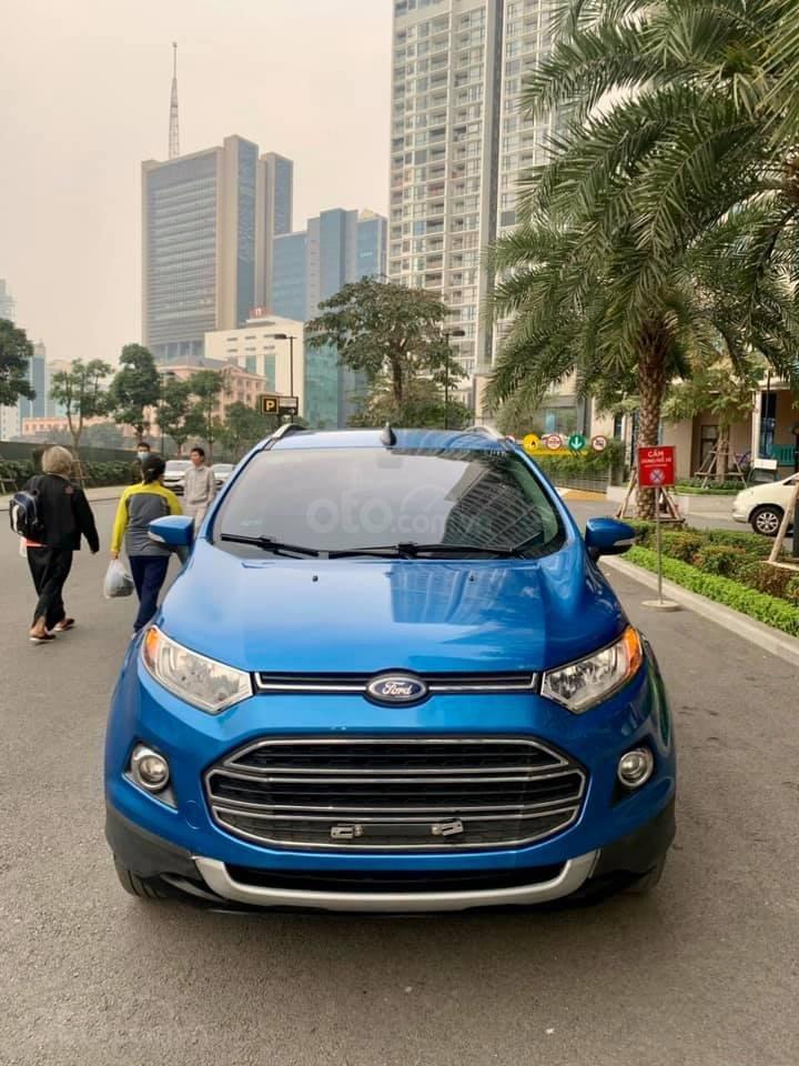 Bán Ford EcoSport 1.5 AT sản xuất 2014, màu xanh còn mới, 425 triệu (1)