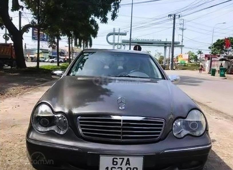 Cần bán Mercedes C200 - 2001 sản xuất 2001, màu xám (1)