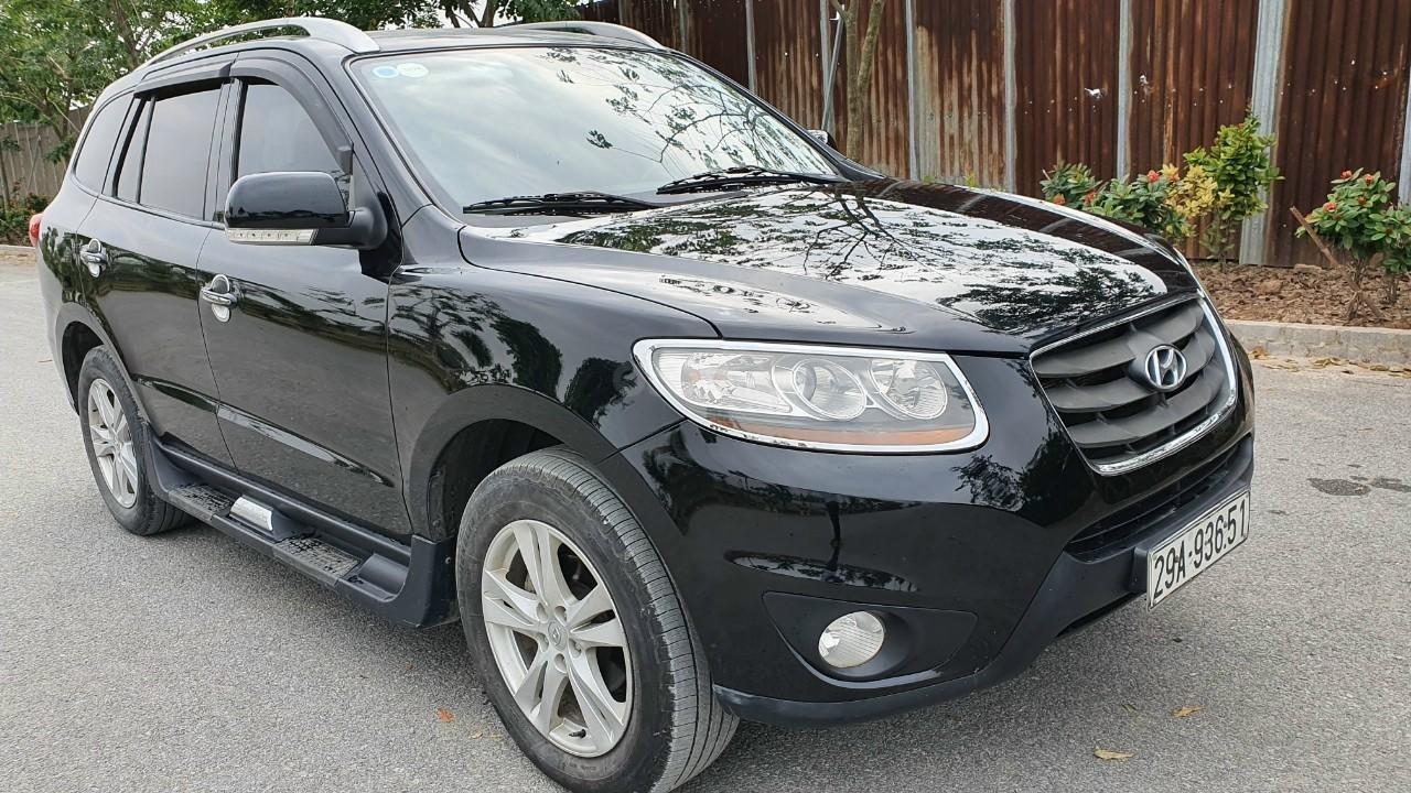 Santa Fe 5 chỗ số tự động máy dầu EVGT, forrm mới, 2 cầu đời 2009, xe đẹp giá tốt (1)