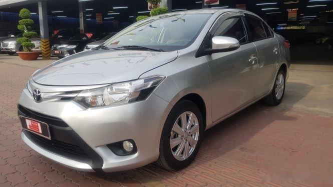 Cần bán xe Toyota Vios 1.5E MT đời 2016, màu bạc (3)