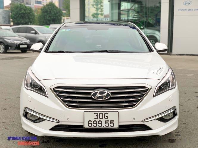 Xe Hyundai Sonata 2.0 đời 2015, màu trắng, giá tốt (2)