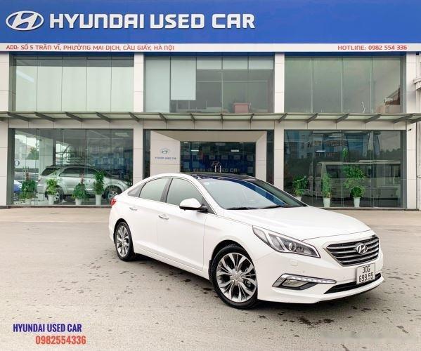 Xe Hyundai Sonata 2.0 đời 2015, màu trắng, giá tốt (1)