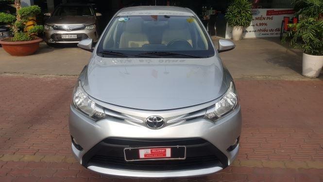 Cần bán xe Toyota Vios 1.5E MT đời 2016, màu bạc (1)