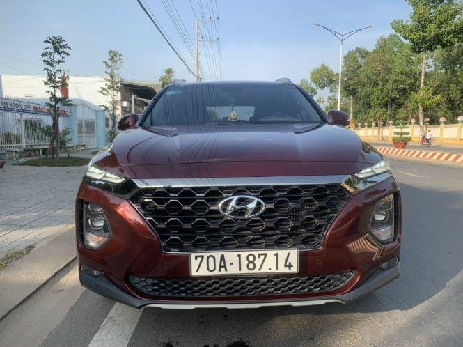 Bán Hyundai Santa Fe đời 2018, màu đỏ (1)
