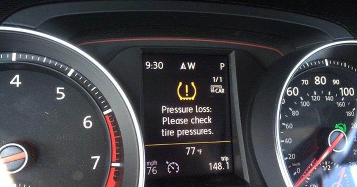 Cảnh báo áp suất lốp.