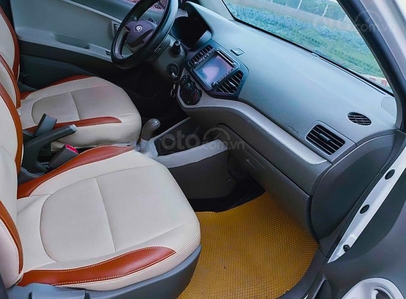Bán Kia Morning 1.0 AT sản xuất năm 2014, màu trắng, xe nhập (3)
