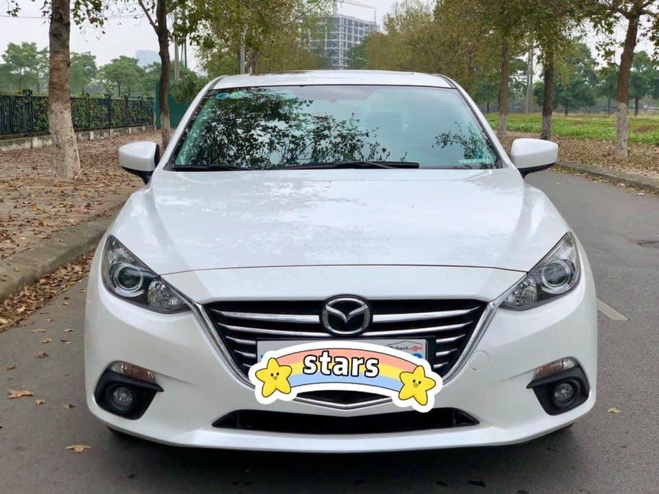 Xe Mazda 3 1.5AT đời 2015, màu trắng, giá đẹp cho anh em đang cân đối (1)