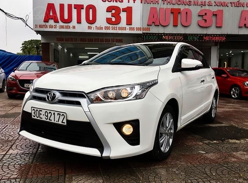Bán ô tô Toyota Yaris 1.5G sản xuất 2017, màu trắng, nhập khẩu giá cạnh tranh (1)