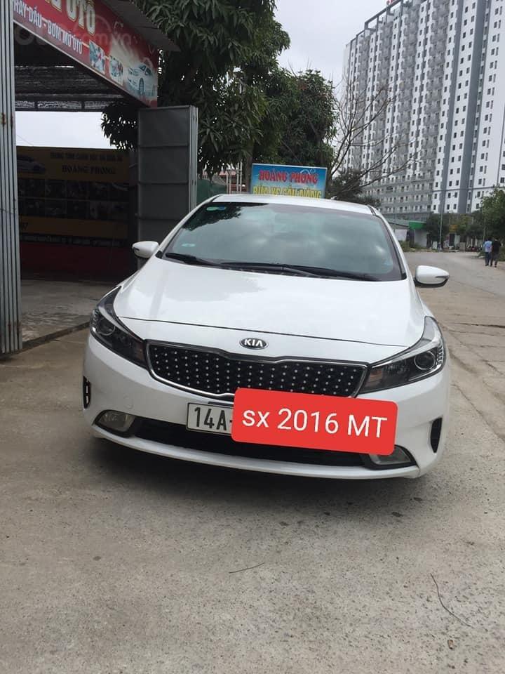 Bán Kia Cerato MT sản xuất 2016, màu trắng, 400 triệu fix mạnh (1)