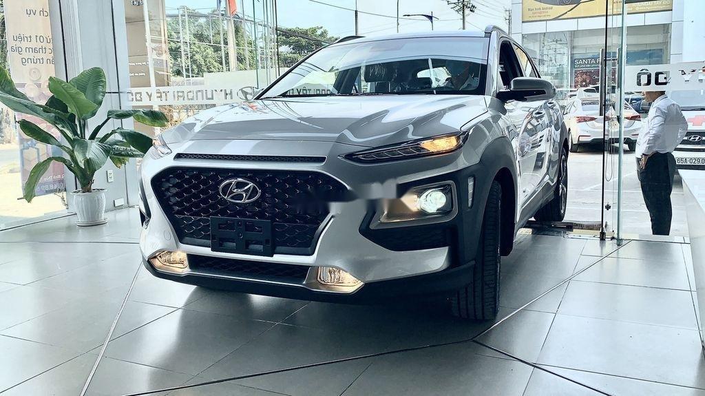 Bán ô tô Hyundai Kona đời 2021, màu bạc (2)