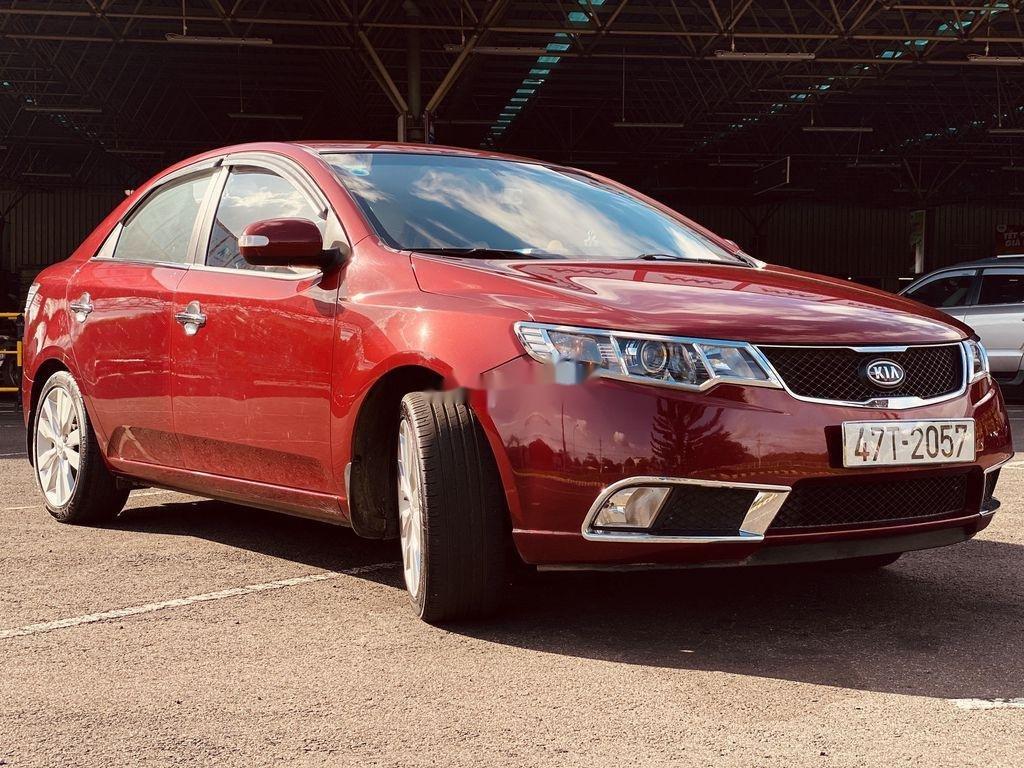 Cần bán lại xe Kia Cerato năm sản xuất 2009, màu đỏ, nhập khẩu (1)
