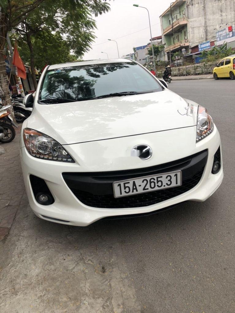 Bán ô tô Mazda 3 đời 2014, màu trắng chính chủ (1)