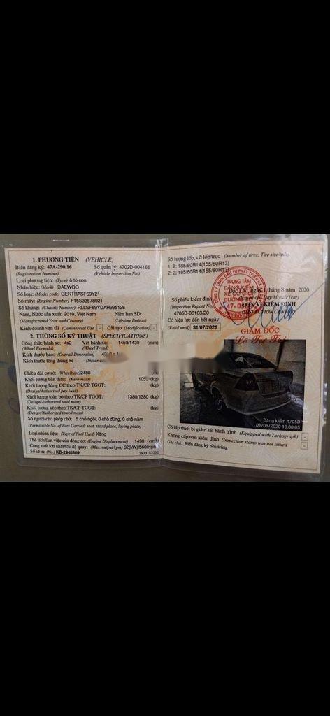 Xe Daewoo Lacetti năm 2010 còn mới (2)