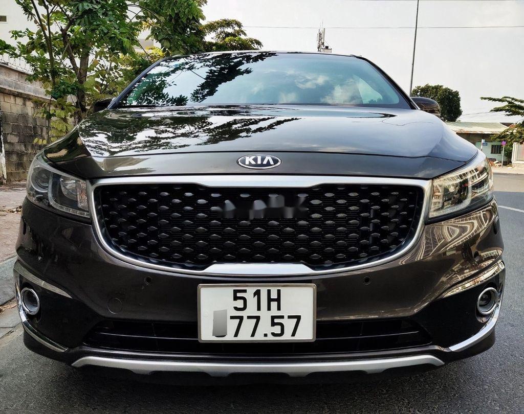 Bán xe Kia Sedona GATH năm sản xuất 2015, màu nâu, nhập khẩu  (1)