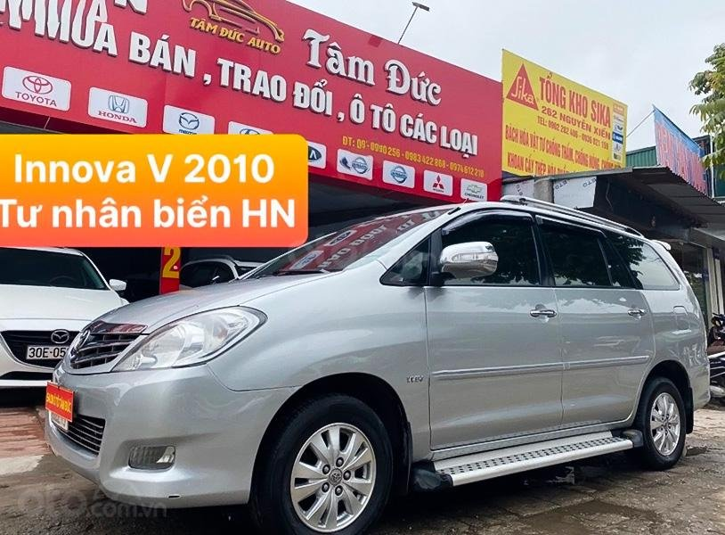 Bán xe Toyota Innova sản xuất 2010, màu bạc như mới (1)