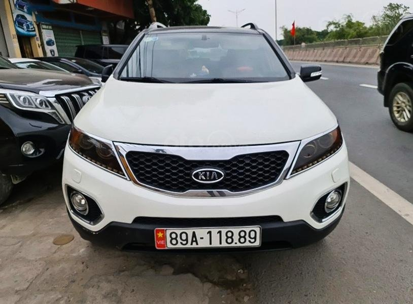Cần bán lại xe Kia Sorento sản xuất 2012, màu trắng còn mới, giá 465tr (3)