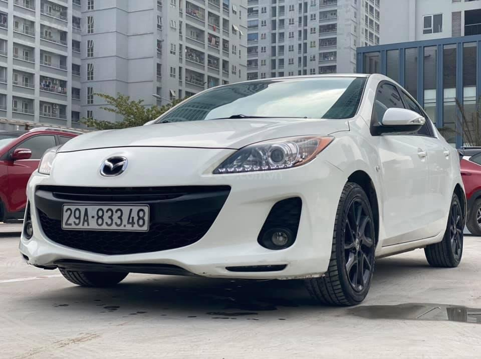 Cần bán Mazda 3S năm sản xuất 2013, màu trắng giá cạnh tranh (2)