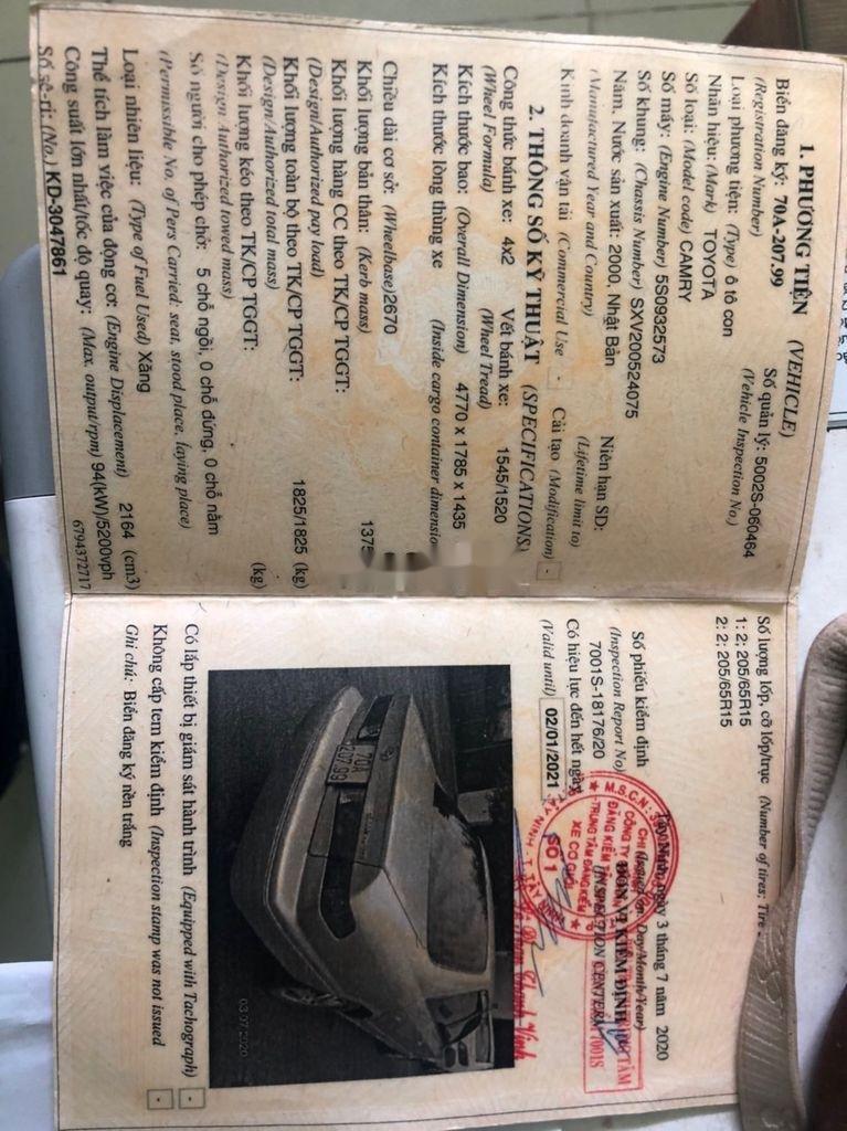 Cần bán Toyota Camry sản xuất 2000, xe nhập còn mới, giá 265tr (7)