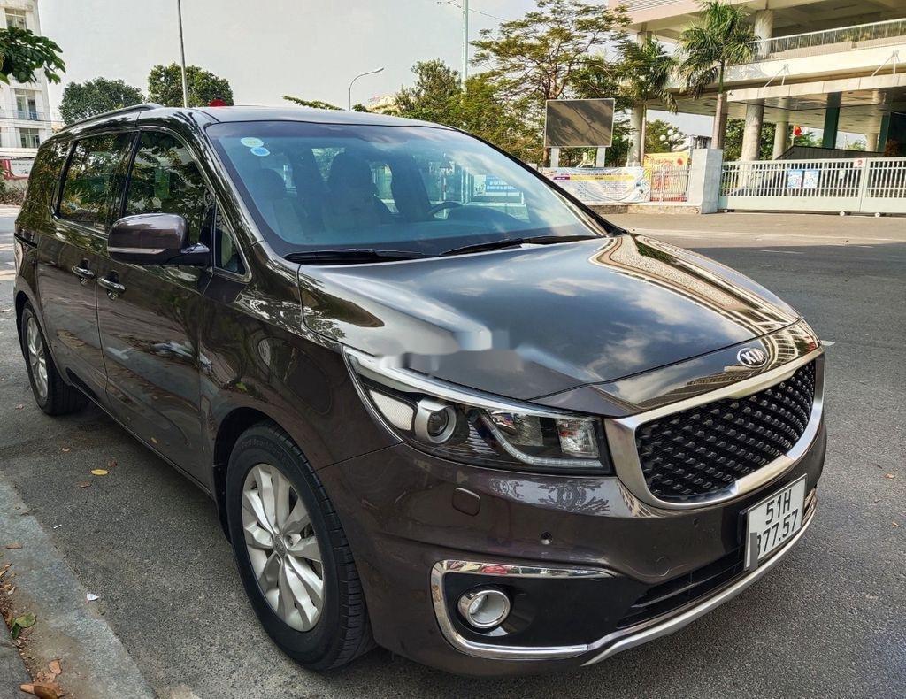 Bán xe Kia Sedona GATH năm sản xuất 2015, màu nâu, nhập khẩu  (2)