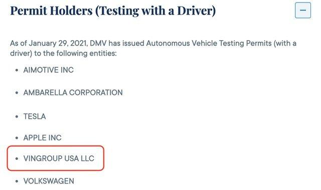 VinFast được bang California, Mỹ cấp phép thử nghiệm xe điện tự lái 2