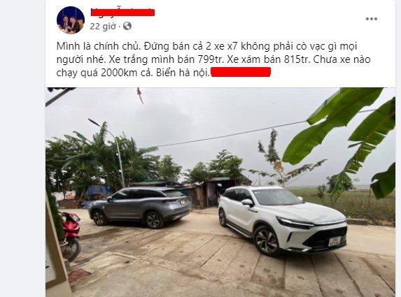 Beijing X7 chạy lướt 2.000 km, rao bán đắt hơn cả giá lăn bánh