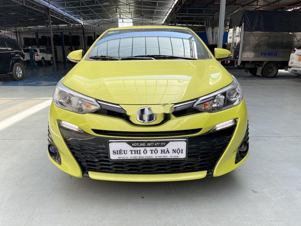 Cần bán lại xe Toyota Yaris 1.5G CVT 2019, màu vàng (1)
