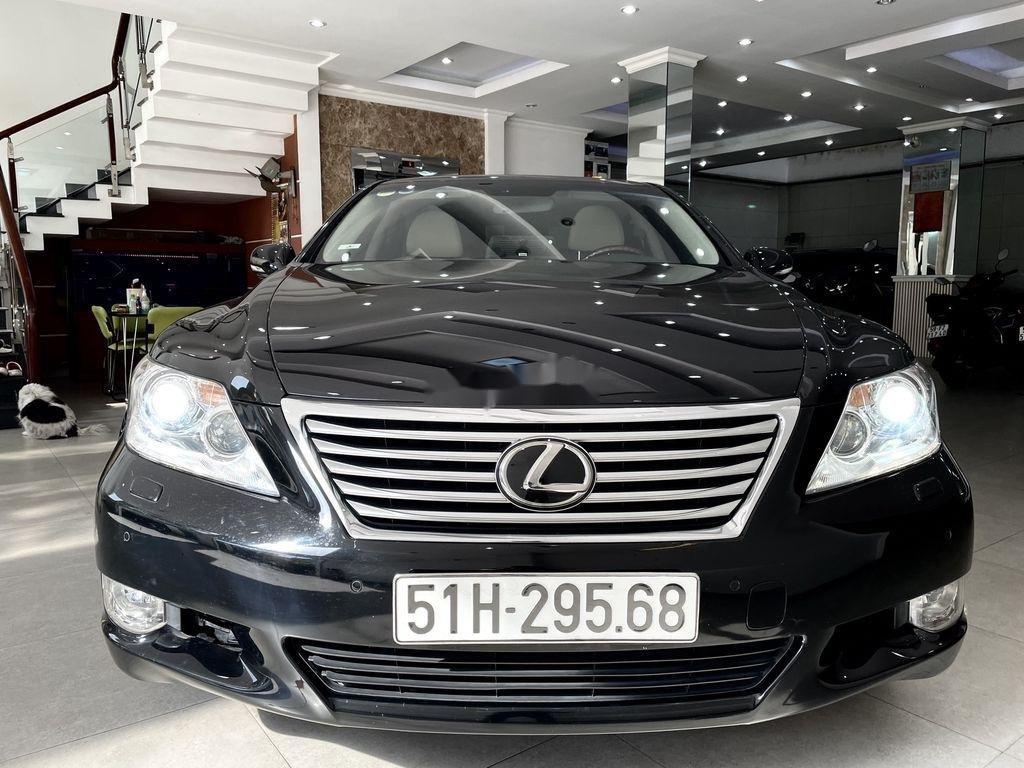 Cần bán lại xe Lexus LS 460L sản xuất 2007, màu đen, nhập khẩu (1)