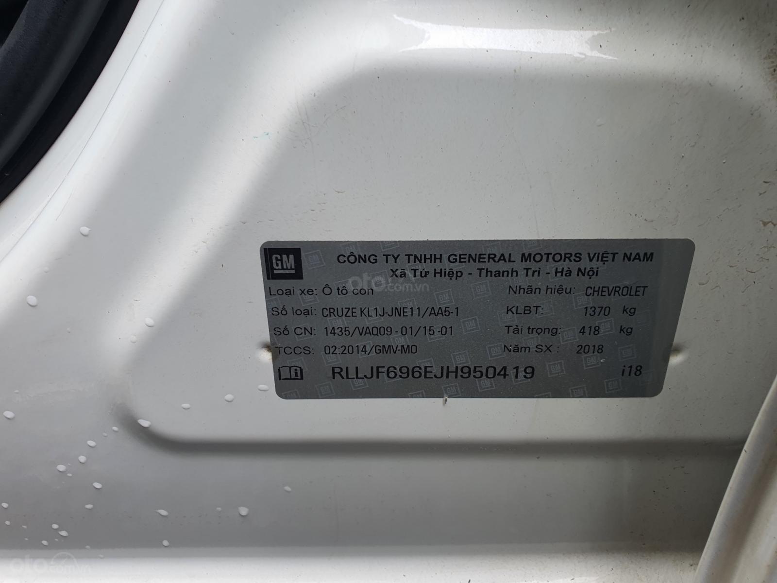 Bán ĐG xe Chevrolet Cruze số sàn sản xuất năm 2018 (6)