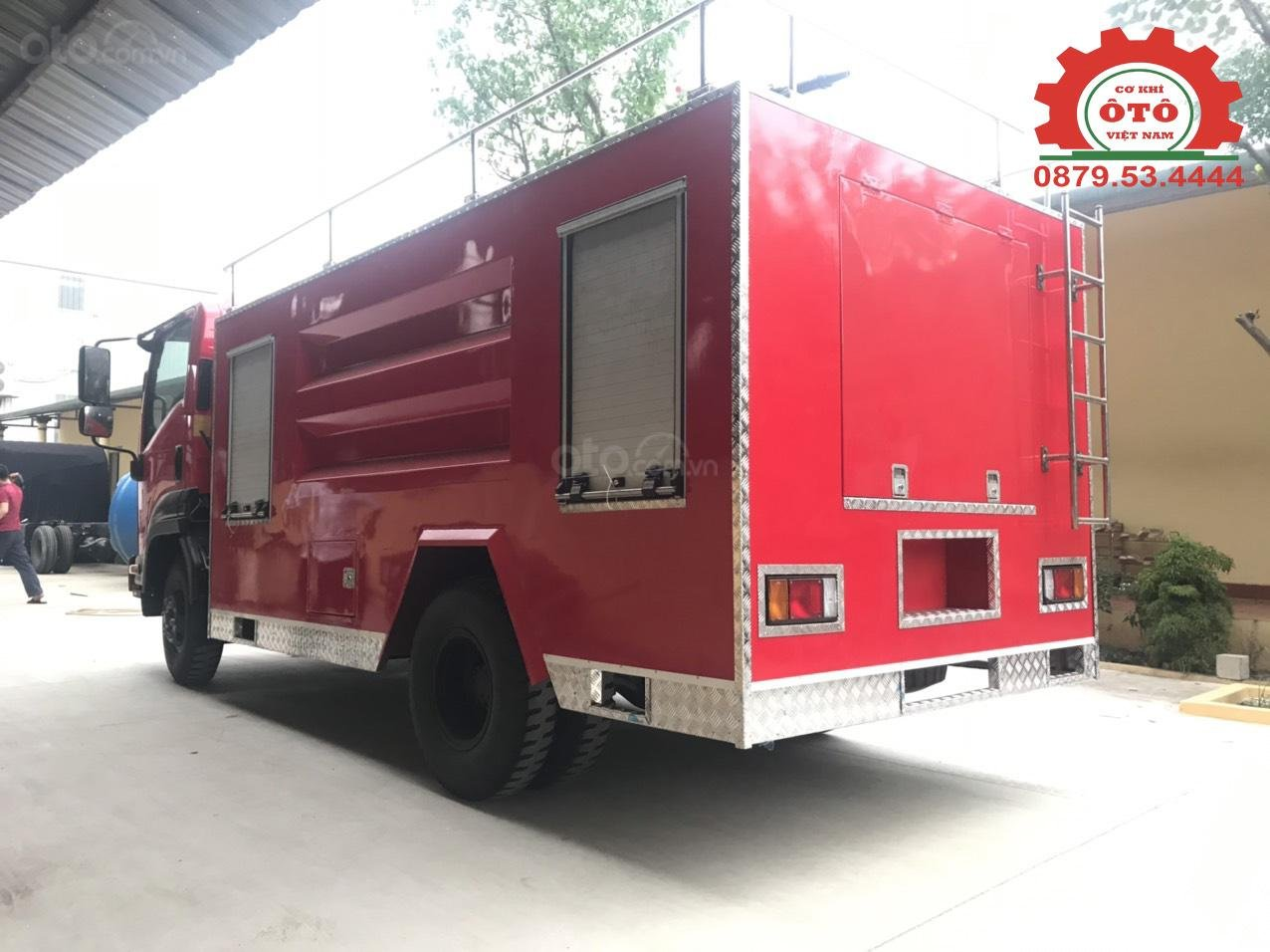 Bán xe chữa cháy, cứu hỏa phun nước 5 khối Izuzu (2)