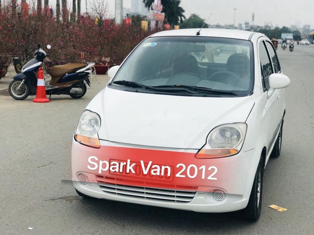 Bán Chevrolet Spark Van sản xuất năm 2012, màu trắng, giá 110tr (1)
