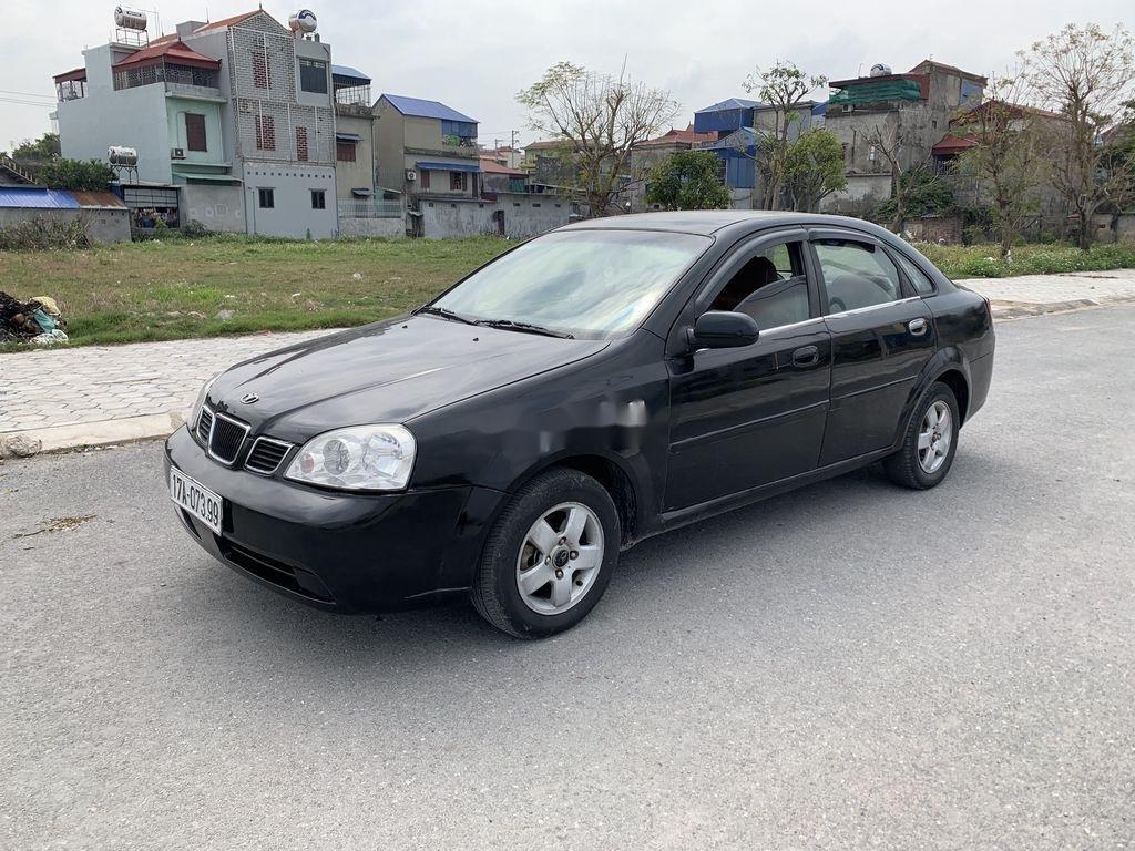 Bán xe Daewoo Lacetti sản xuất năm 2004, màu đen (1)