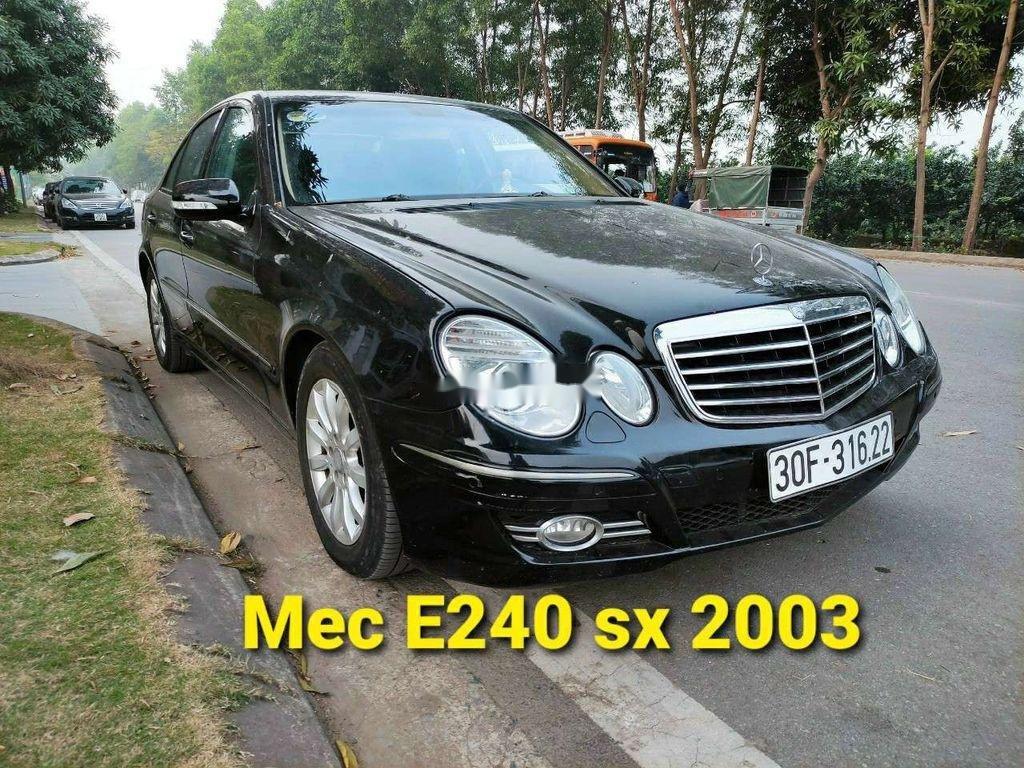 Cần bán lại xe Mercedes E 240 sản xuất 2003, màu đen, xe nhập (6)