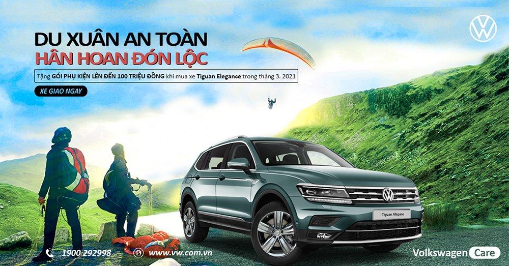 Volkswagen Tiguan nhận ưu đãi gói phụ kiện 100 triệu đồng.