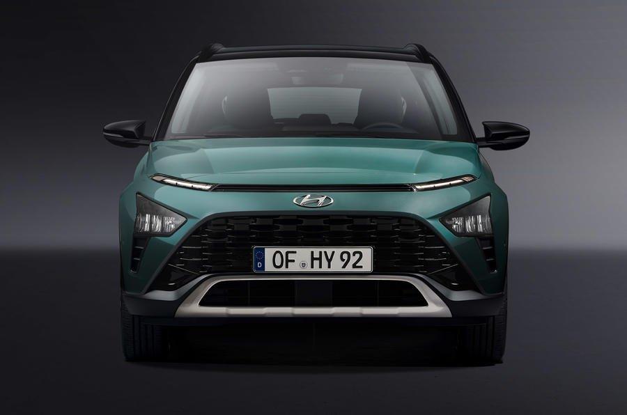 Hyundai Bayon 2021 mang hơi hướng quen thuộc từ mẫu Hyundai Kona.