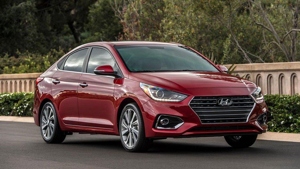 Hyundai Accent 2019 màu đỏ.