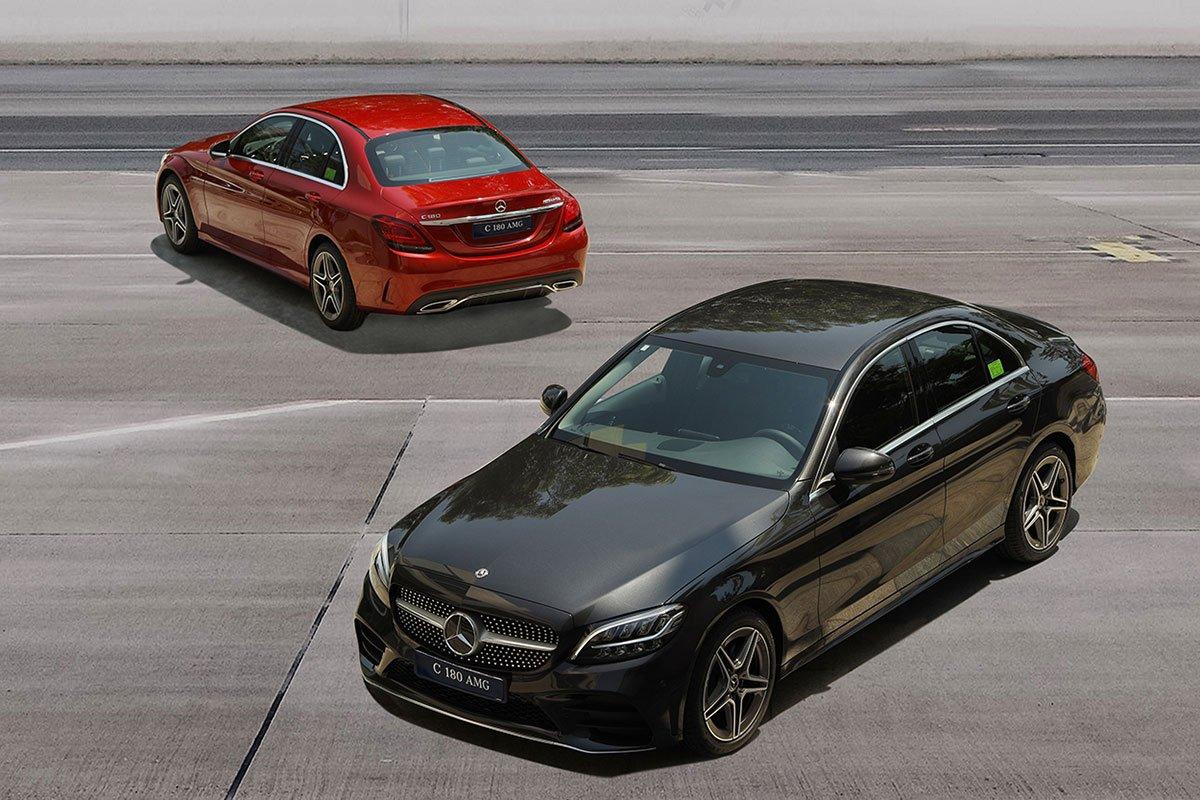 Mercedes-Benz C180 AMG 2021 mới ra mắt thị trường Việt